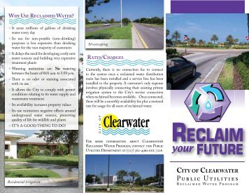 reclaimed water brochure