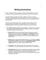 Writing Summaries - Columbia University School of Social Work