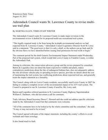 Read More - Adirondack Council