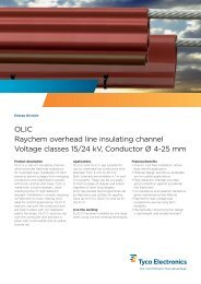 OLIC Raychem overhead line insulating channel Voltage classes 15 ...