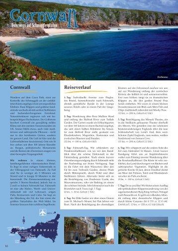 Cornwall Reiseverlauf