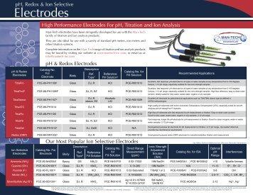 Electrodes - mantech inc.