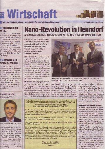 Nano-Revolution in Henndorf