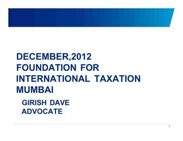 Vodafone - ...The Judgment... - Foundation for International Taxation