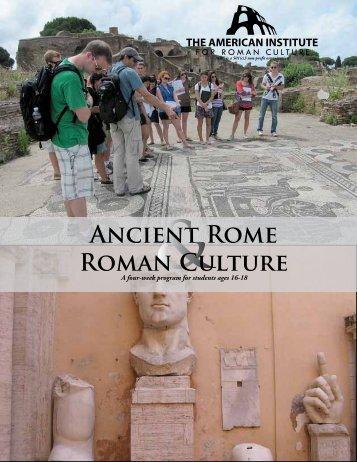 Ancient Rome Roman Culture - American Institute for Roman Culture