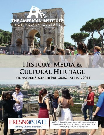 History, Media & Cultural Heritage - American Institute for Roman ...
