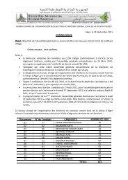 Communiqué résultats de l'assemblée générale élective du 22 ...
