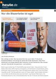 Nur die Blazerfarbe ist egal - Richard Schütze Consult