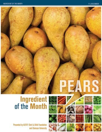 Pears - American Culinary Federation