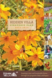 Strategic Plan 2012-2015 - Hidden Villa