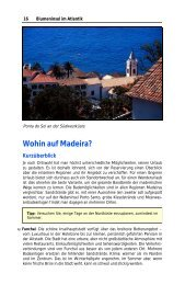 Wohin auf Madeira? - WEINBUECHER.de