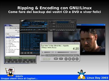 Ripping & Encoding con GNU/Linux - Linux Day