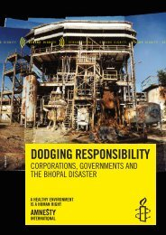 Dodging Responsibility - Amnesty International Schweiz