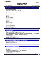 2141 Sikkerhedsdatablad.pdf, Sider 1-6 - Weber