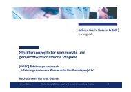 Strukturkonzepte für kommunale und ... - GGSC Seminare