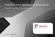MAGNAT Asset Management Deutschland - MAGNAT Real Estate AG