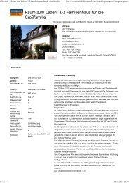 (62834245 // Raum zum Leben: 1-2 Familienhaus f\374r die Gro ...