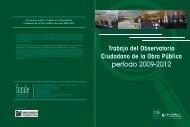 Trabajo del Observatorio Ciudadano de la Obra Pública