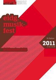 Schlussbericht EMF2011 - Schweizer Blasmusikverband