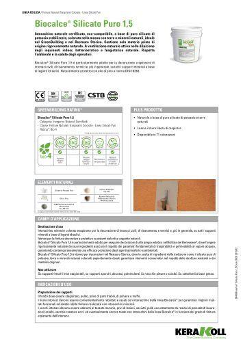 Folder biocalce kerakoll kerakoll s p a for Biocalce intonaco