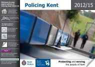 the Kent Policing Plan for 2012/15 - Kent Police