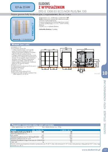 Dane techniczne ELIDENS DTG E 1300-35 ECO.NOX ... - De Dietrich
