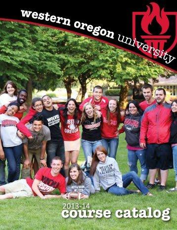course catalog - Western Oregon University