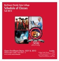 Fall 2013 Schedule of Classes [pdf] - Northwest Florida State College