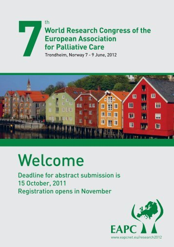World Research Congress of the European Association for Palliative ...