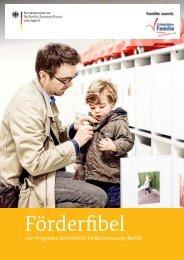 Förderfibel zum Programm Betriebliche Kinderbetreuung