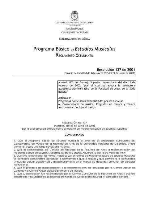Reglamento Completo Mejorado 2012 Facultad De Artes