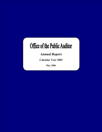 2005 - The Office of Public Accountability