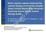 Boron neutron capture enhanced fast neutron therapy ... - Wcenter.de