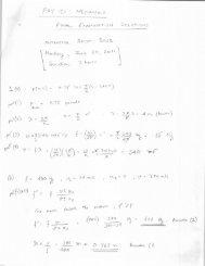 Final Examination Solution