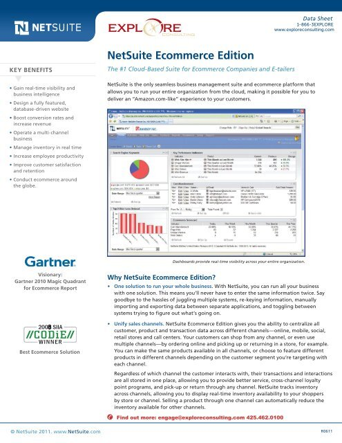 NetSuite Ecommerce Edition - Explore Consulting
