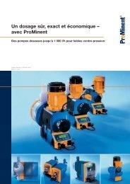 Brochure - Un dosage sûr, exact et économique – avec ProMinent
