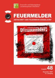 Feuermelder, Ausgabe 48 - Stadt Düsseldorf
