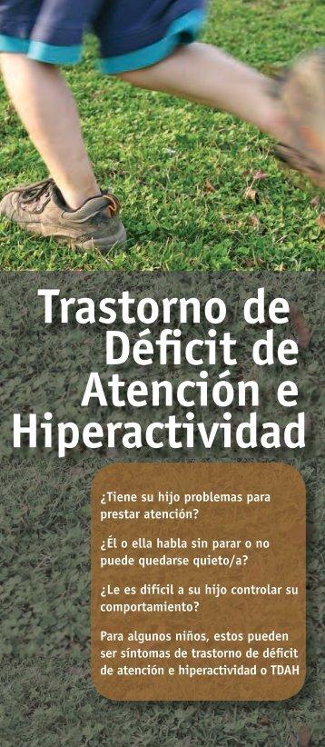 Trastorno de Déficit de Atención e Hiperactividad - NIMH