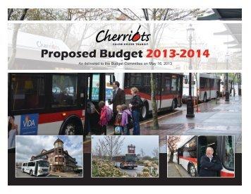 Proposed Budget 2013-2014 - Cherriots
