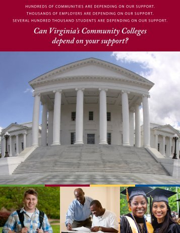 Can Virginia's Community Colleges depend on your support?