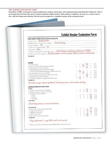 4. Supplier/ Vendor Evaluation Form