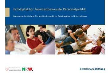Erfolgsfaktor familienbewusste Personalpolitik