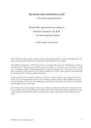 Ejeraftaler efter selskabsloven § 82 - Juridisk Institut - Aarhus ...