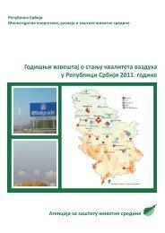 Извештај о стању квалитета ваздуха у Републици Србији за ...