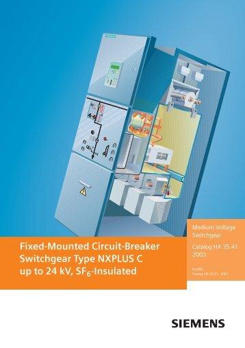 Fixed-Mounted Circuit-Breaker Switchgear Type NXPLUS ... - Siemens