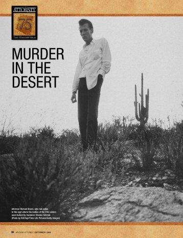 MURDER IN THE DESERT - Lawyers