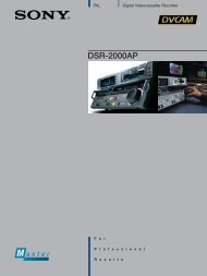 DSR-2000AP - que Video