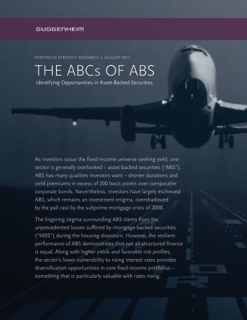 THE ABCs OF ABS - Guggenheim Partners