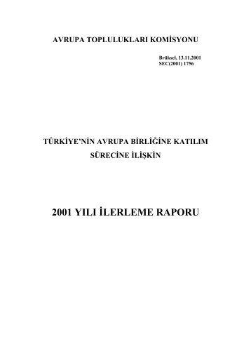 2001 İlerleme Raporu - Avrupa Birliği Bakanlığı