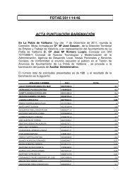 fotae/2011/14/46 acta puntuación baremación - Ajuntament de La ...